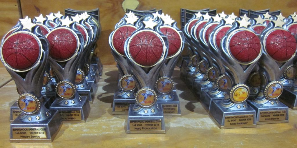 Trophies for 2018 Presentation Day